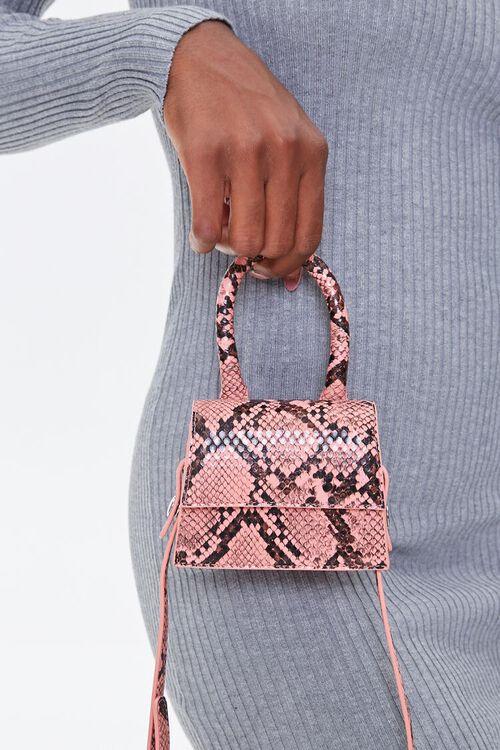 Faux Snakeskin Mini Crossbody Bag, image 2