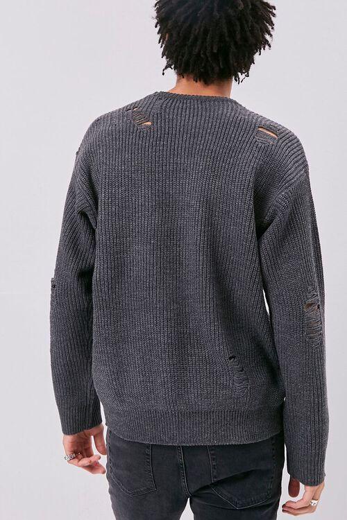Distress Ribbed Knit Sweater, image 4