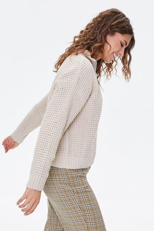 Open-Knit Half-Zip Sweater, image 2