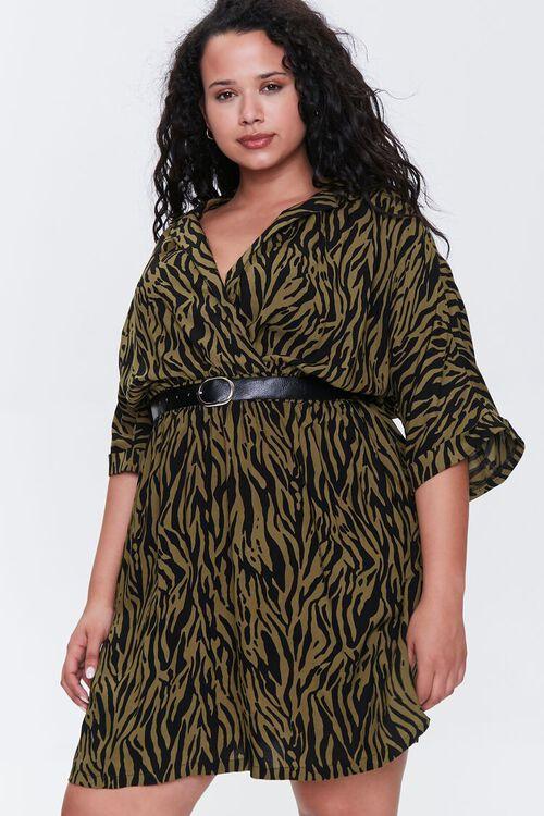 Plus Size Tiger Striped Dress, image 4