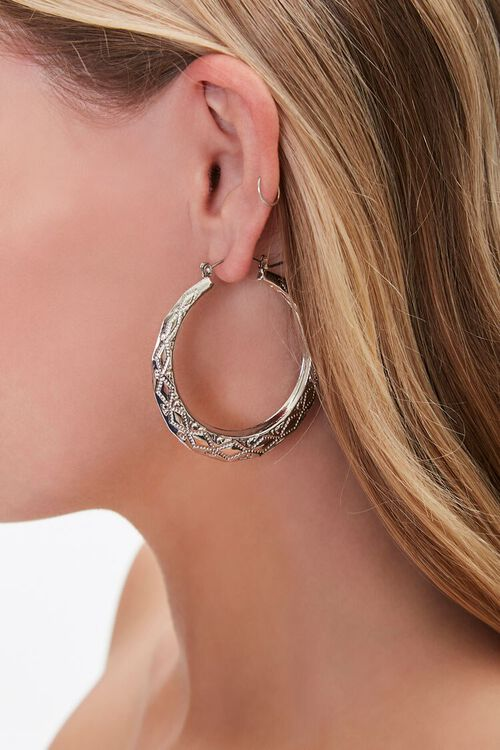 Engraved Hoop Earrings, image 1