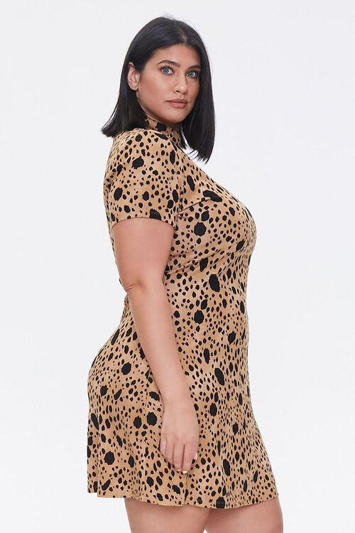 Plus Size Spotted Bodycon Dress, image 2