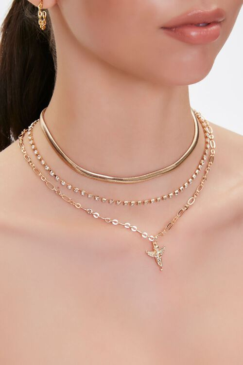 Cherub Pendant Layered Necklace, image 1