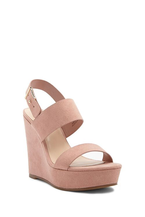 Faux Suede Wedges, image 2