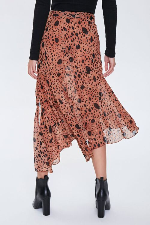 Spotted Flounce Maxi Skirt, image 4