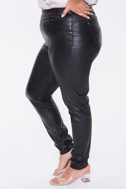 Plus Size Faux Leather Pants, image 3