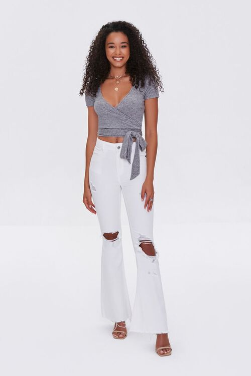 Distressed Flare Jeans, image 1