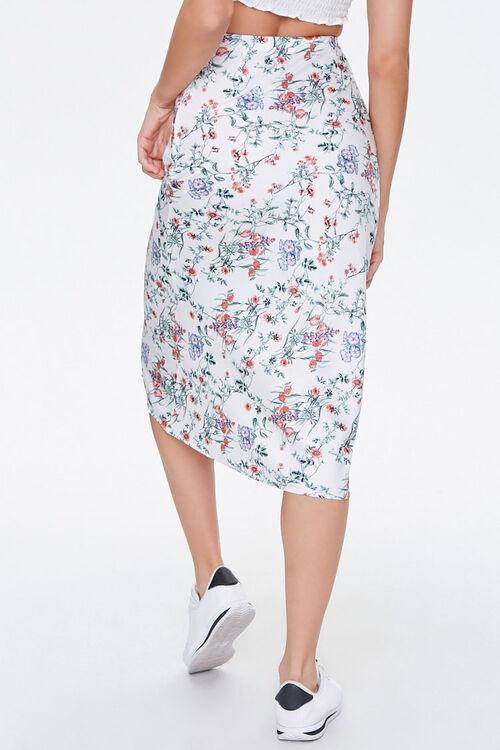 Floral Satin A-Line Skirt, image 4