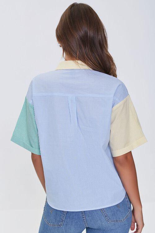 BLUE/MULTI Colorblock Pinstriped Shirt, image 3
