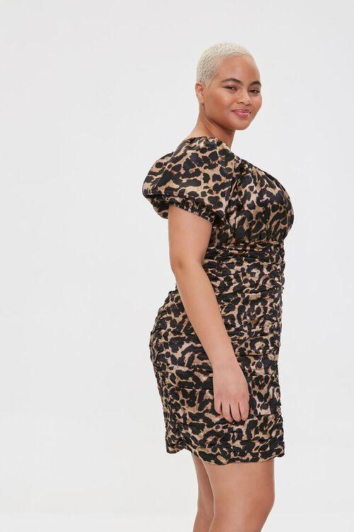 Plus Size Leopard Print Bodycon Dress, image 2