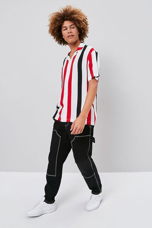 Classic Fit Vertical Striped Shirt, image 4