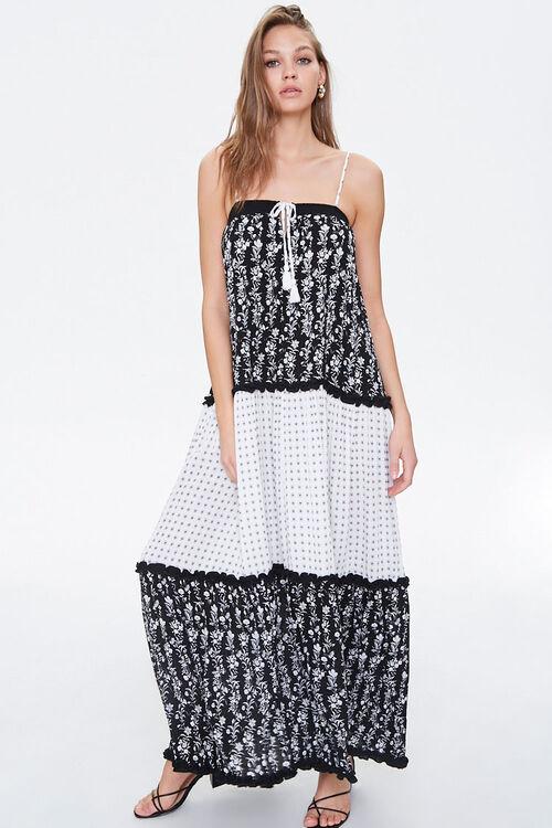 Patternblock Tasseled Maxi Dress, image 4