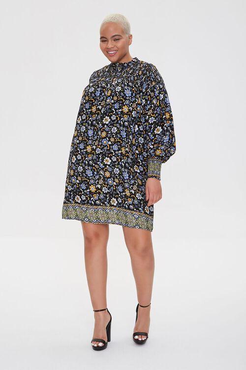 Plus Size Ornate Floral Shift Dress, image 4