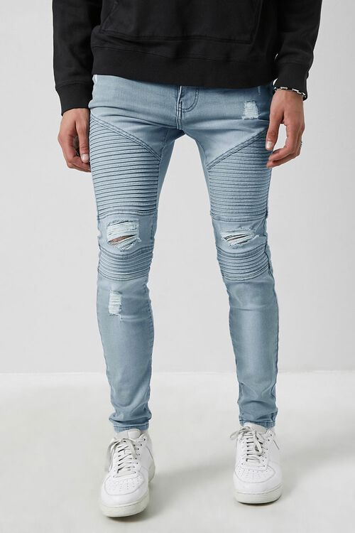 Distressed Moto Skinny Jeans, image 2