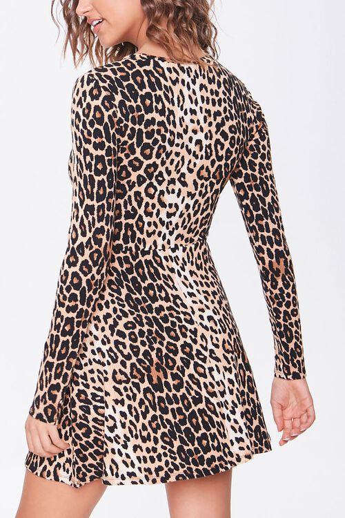 Leopard Print Skater Dress, image 3