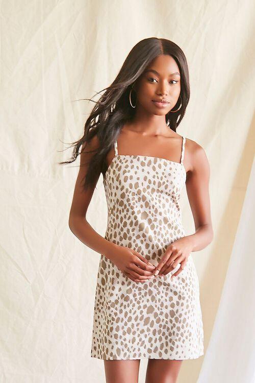 GREY/MULTI Spotted Print Cami Mini Dress, image 1
