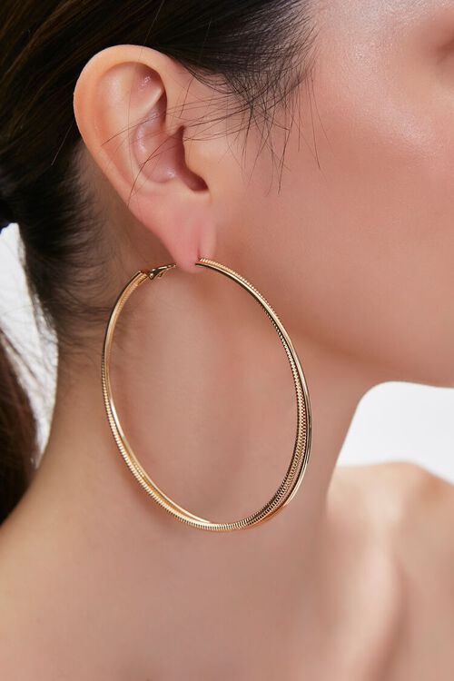 Textured Hoop Earrings, image 1