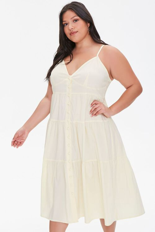 Plus Size Flounce Cami Dress, image 1