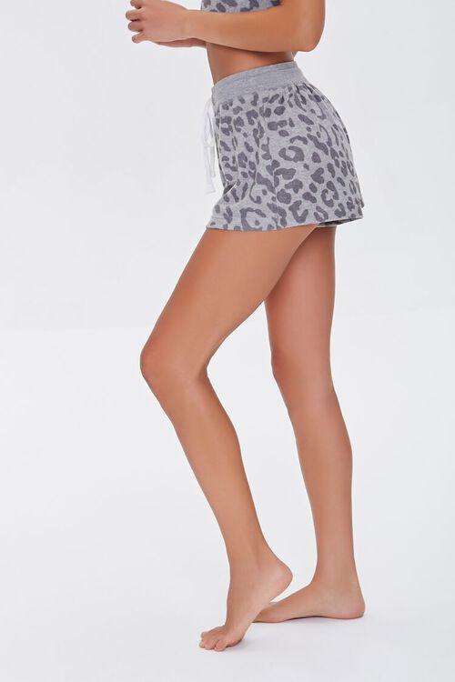 GREY/CHARCOAL Leopard Print Lounge Shorts, image 3