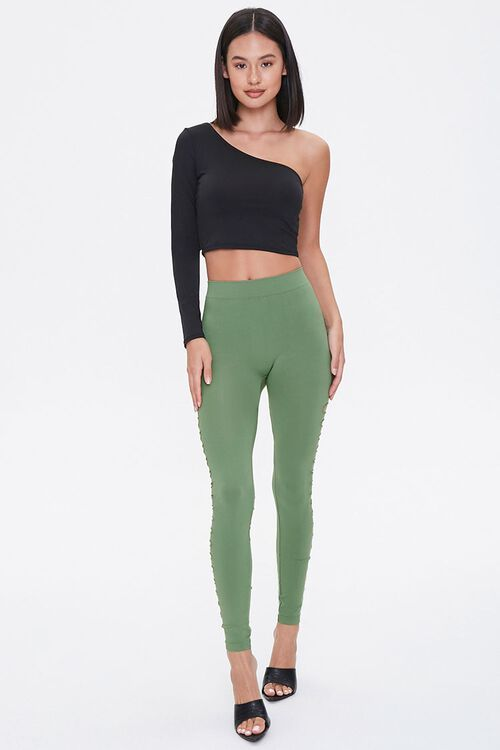Ladder Cutout Leggings, image 4