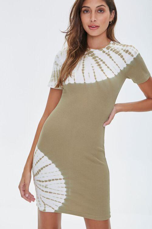 Tie-Dye Wash T-Shirt Dress, image 1