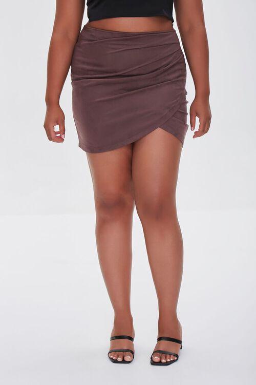 CHOCOLATE Plus Size Tulip Mini Skirt, image 2