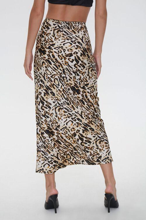 Satin Leopard Print Skirt, image 3