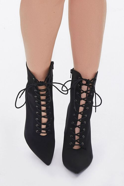 Lace-Up Stiletto Booties, image 4