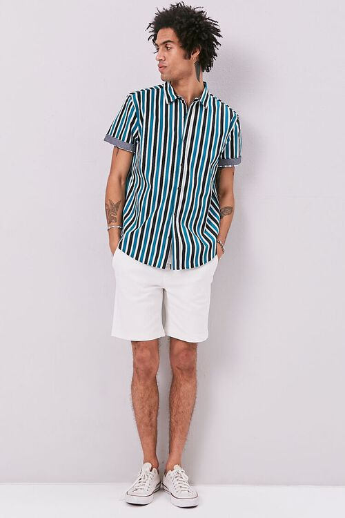 Striped Print Fitted Shirt, image 4