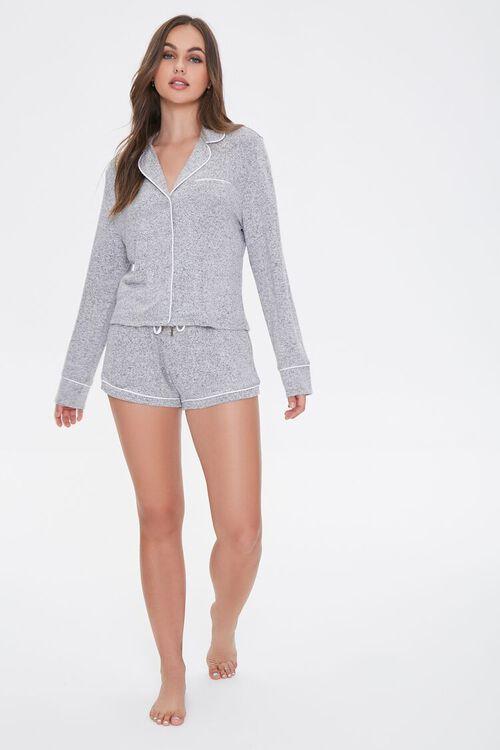 Marled Knit Pajama Set, image 4