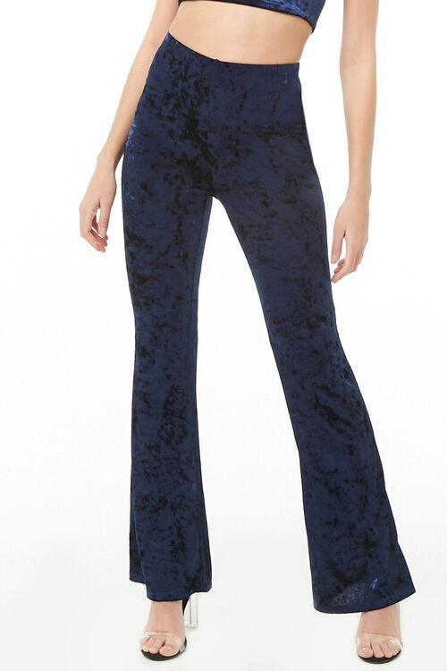 Crushed Velvet Flare Pants, image 1