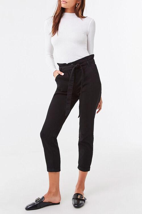 Belted Paperbag Pants, image 1