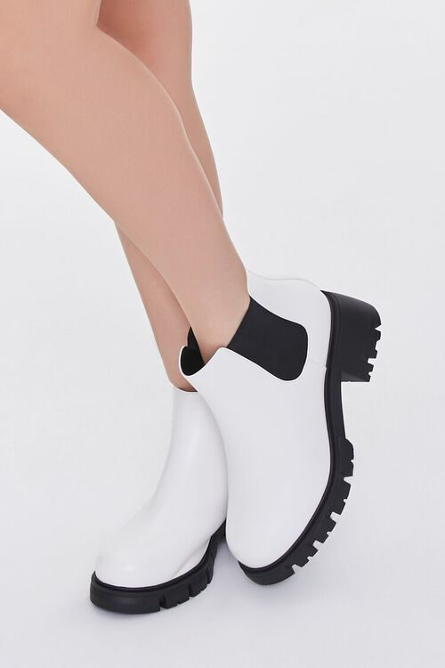Faux Leather Chelsea Booties (Wide), image 1