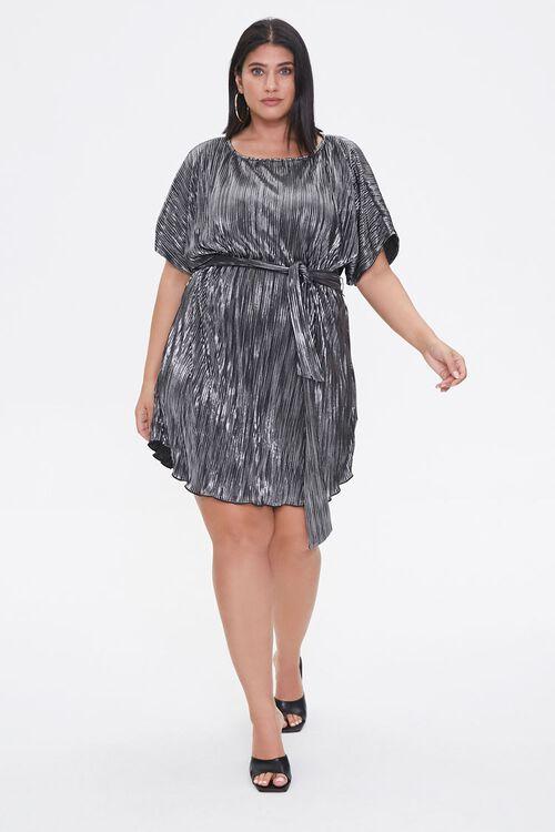 Plus Size Metallic Dolman Dress, image 4