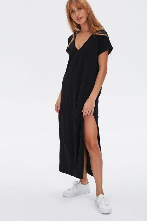 Side-Slit Maxi Dress, image 1