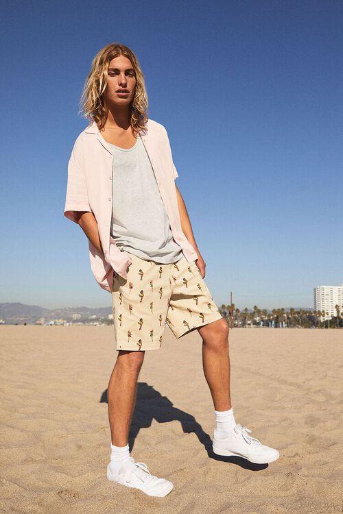 Woman Print Drawstring Shorts, image 1