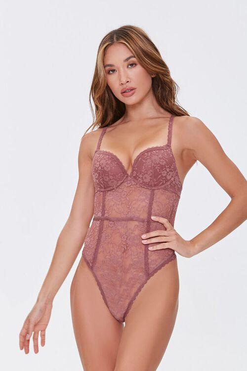 Lace Cutout Bodysuit, image 1
