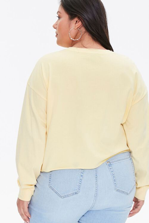 Plus Size Los Angeles Cropped Graphic Tee, image 3