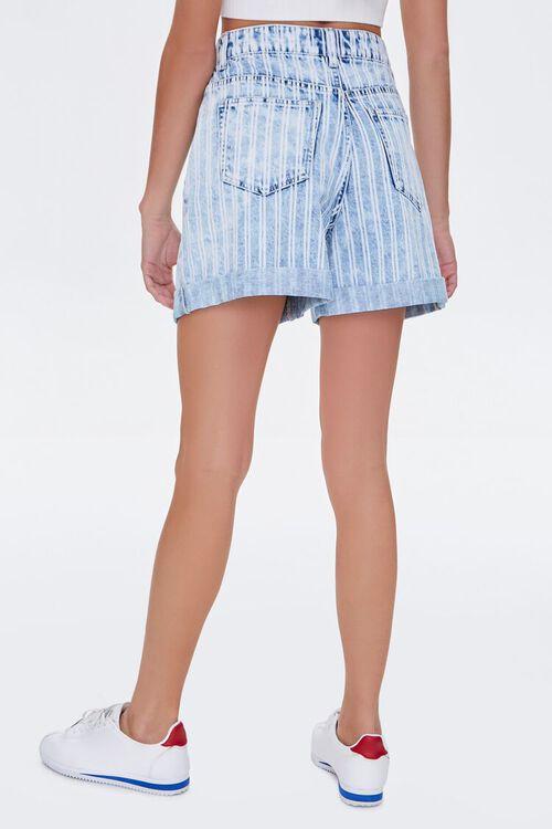 Striped Denim Shorts, image 4
