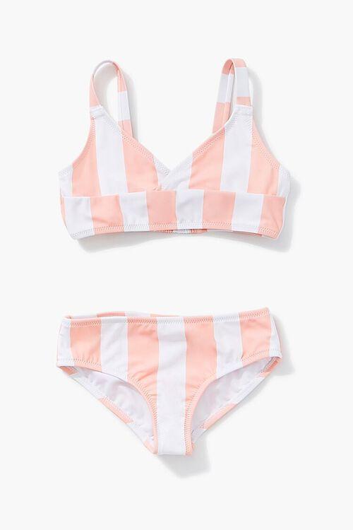 Girls Striped Print Bikini (Kids), image 1