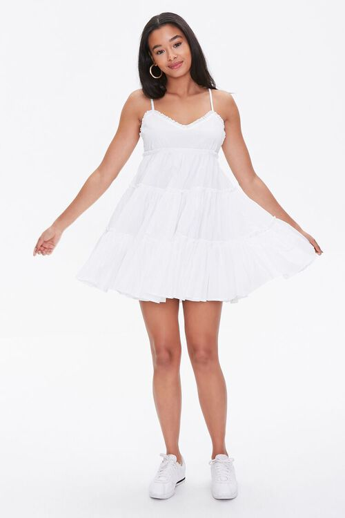 Tiered Fit & Flare Mini Dress, image 4