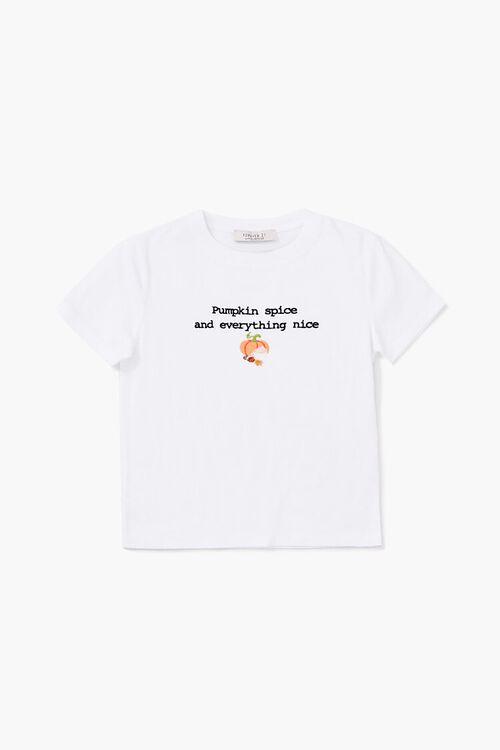 Girls Pumpkin Spice Graphic Tee (Kids), image 1