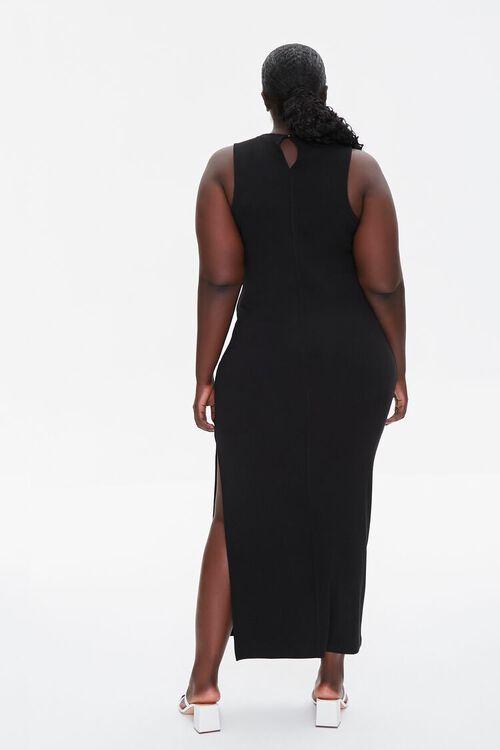 BLACK Plus Size Maxi Tank Dress, image 3