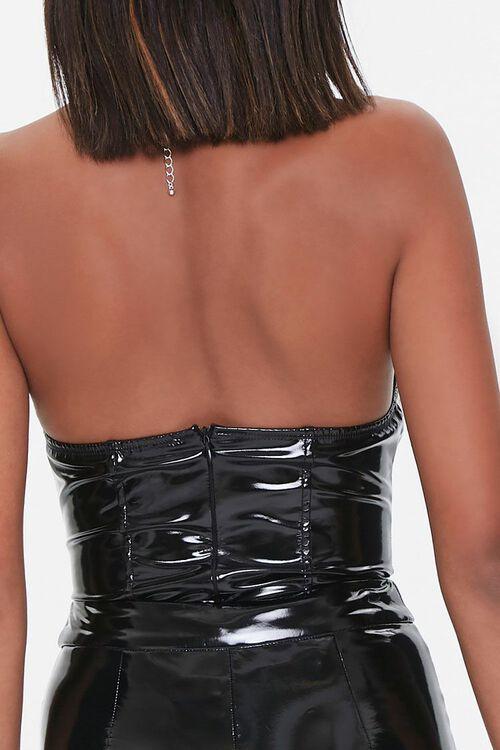BLACK Vinyl Sweetheart Bodysuit, image 3