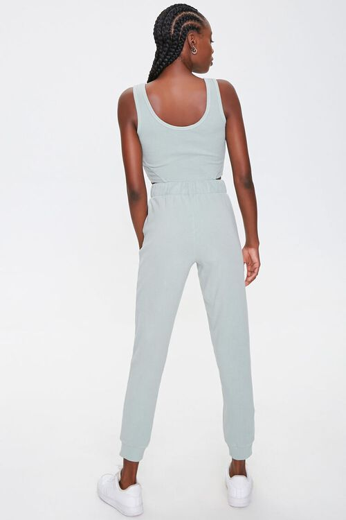 Cropped Tank Top & Joggers Set, image 3