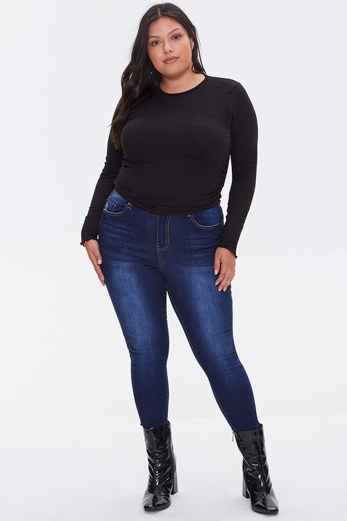 Plus Size Brushed Ruched Top, image 4
