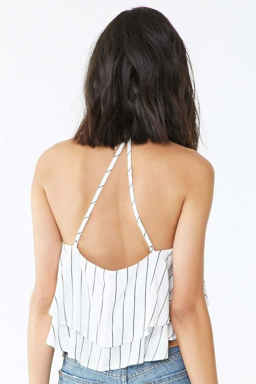 Striped Flounce Cropped Cami, image 3