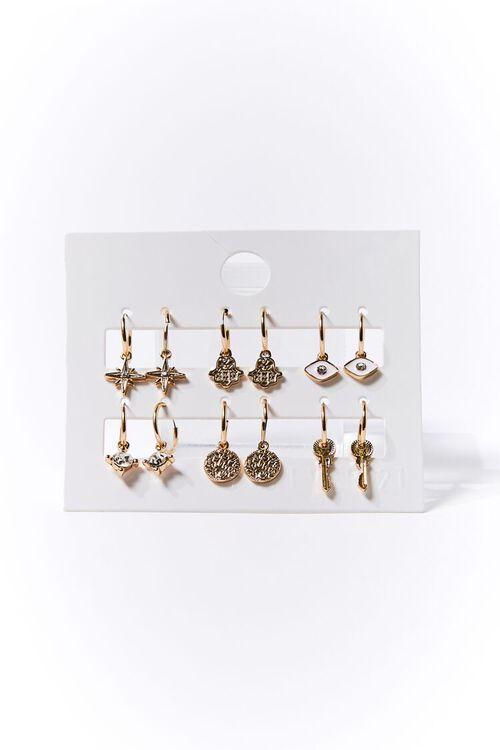 Variety Charm Hoop Earring Set, image 1