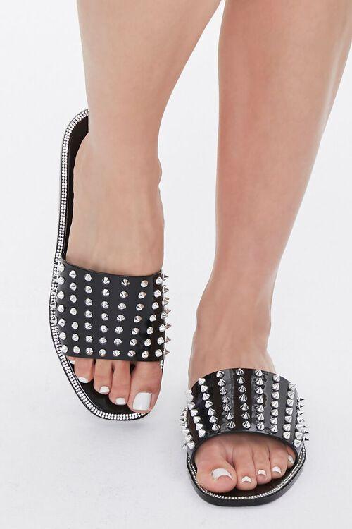 Studded Rhinestone Sandals, image 4