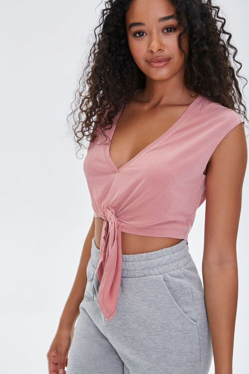 Active Knotted Crop Top, image 1
